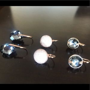 Three pair of authentic Swarovski earrings!!!